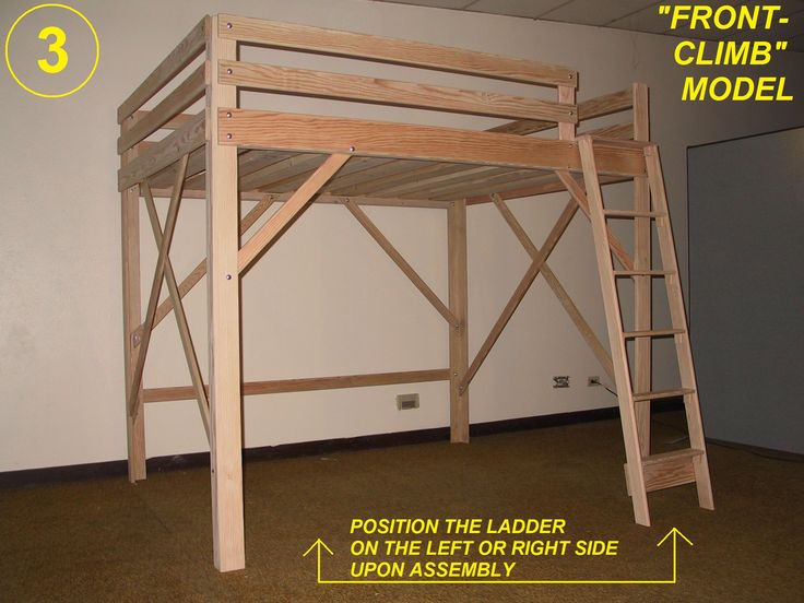 Loft Bed, Twin, Full, Queen, King & Extra Long Loft Beds ...