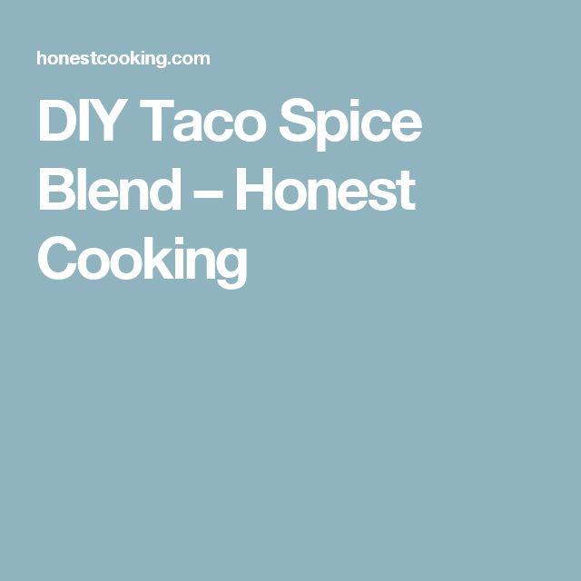DIY Taco Spice Blend – Honest Cooking
