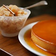 Cream Cheese Flan with Quince Compote -- sounds like a wonderful combination to let the quinces shine