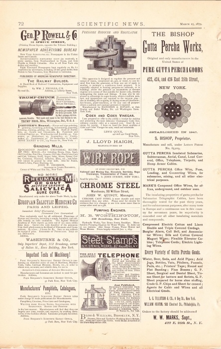 vintage newspaper advertisement