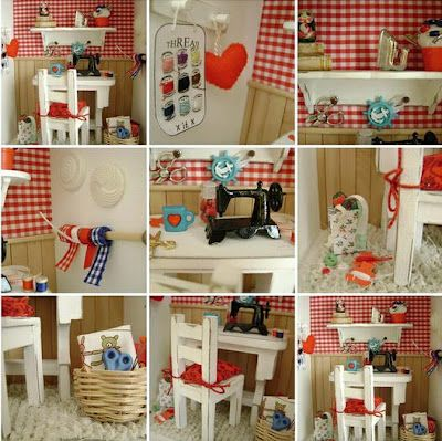 miniature craft room for dolls house :)