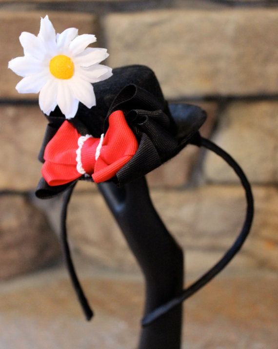Mary Poppins Mini Hat Headband by Haterrific on Etsy