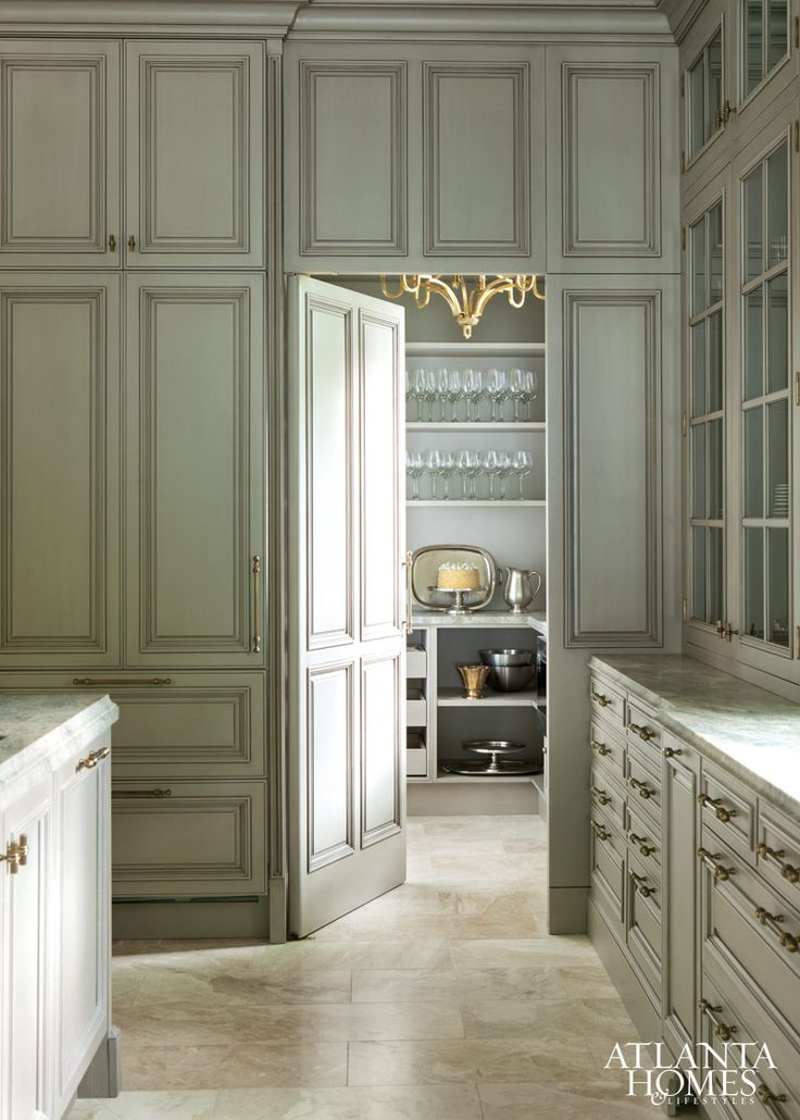 Secret door to the best butler pantry ever.   Design by Design Galleria Kitchen and Bath Studio | Photographed by Erica George Dines | Atlanta Homes & Lifestyles | #covetlounge @covetlounge