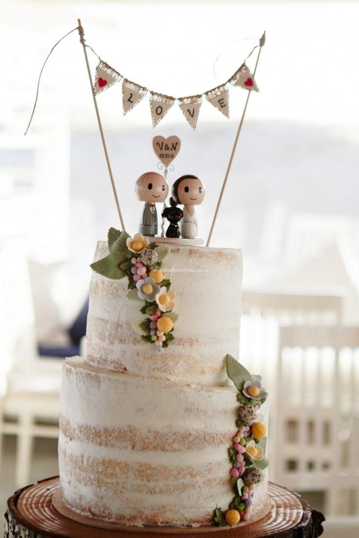 Muñecos para el pastel de bodas