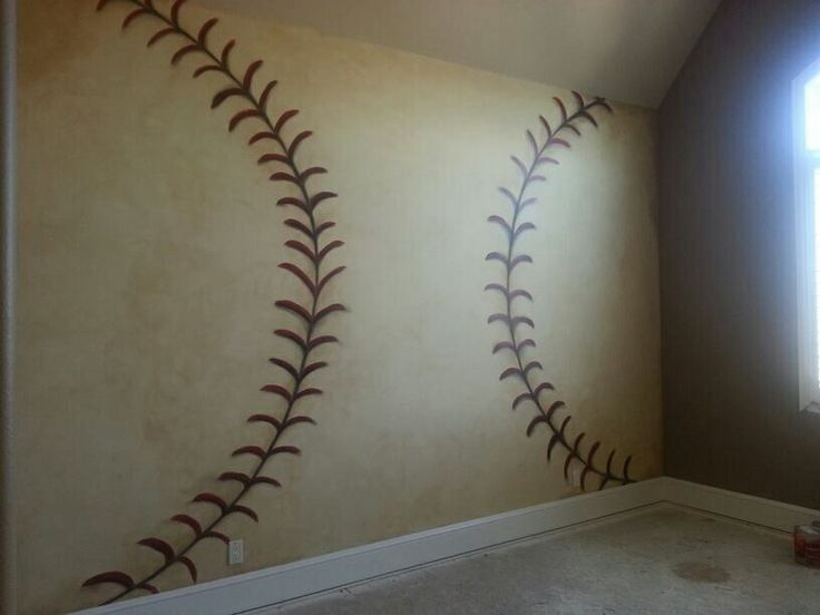 Baseball painted wall
