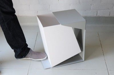 minimal modern waste basket