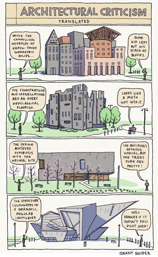 Architectural Criticism Translated by Grant Snider