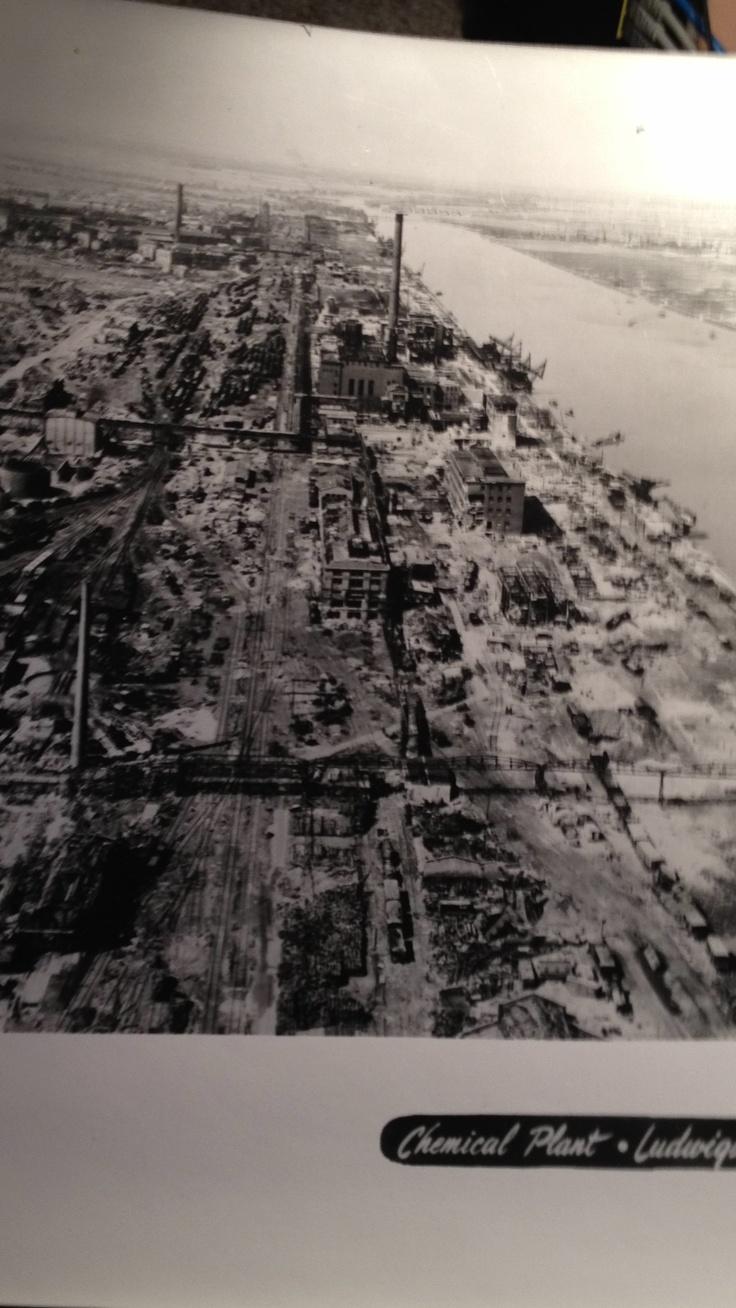 Chemical plant.Ludwigshasen, Germany WW2