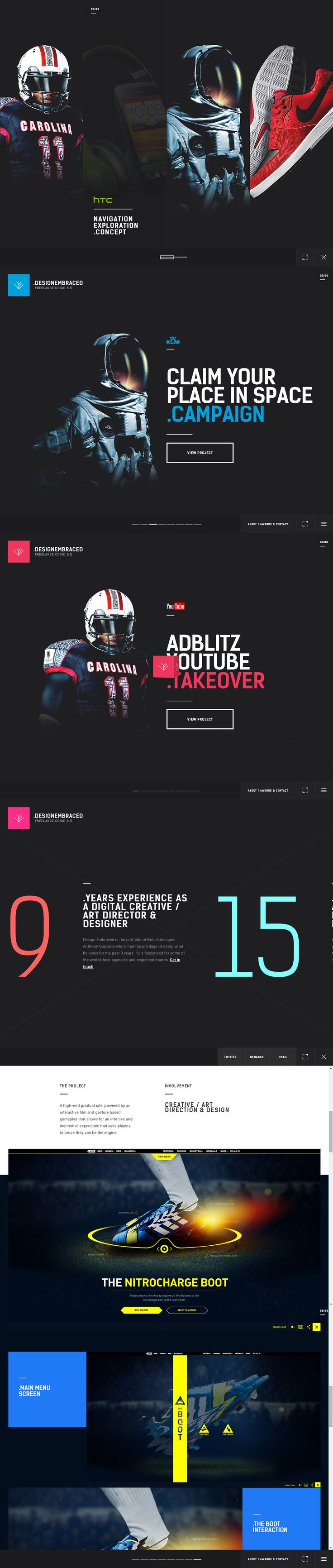Cool Web Design on the Internet, DesignEmbraced. #webdesign #webdevelopment…