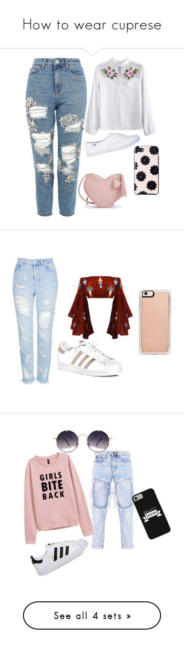 """How to wear cuprese"" by vaughril on Polyvore featuring Topshop, Kate Spade, adidas, Zero Gravity, Spitfire and Converse"
