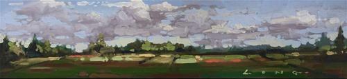 """Daily Paintworks - """"Cranberry Farm"""" - Original Fine Art for Sale - © Chris Long"""