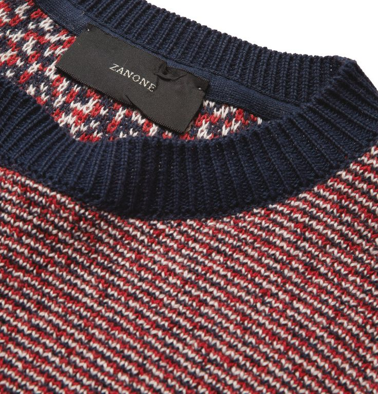 Incotex - Zanone Striped Cotton Sweater | MR PORTER