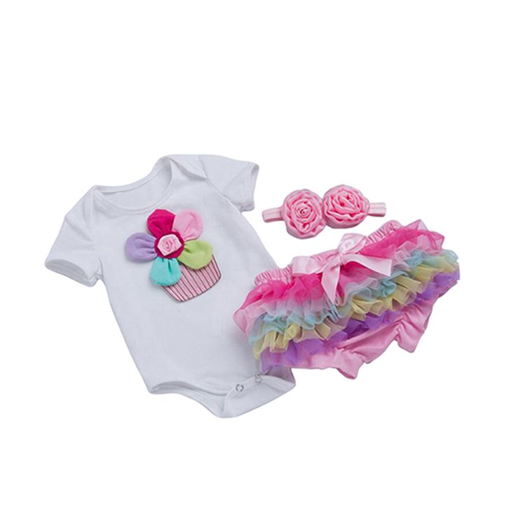 >> Click to Buy << Newborn Baby Girls Cotton Flower Romper Soft Culotte Cake Smash Tutu Dress Fluffy Bloomers Baby Toddler Diaper Cover 3pcs #Affiliate