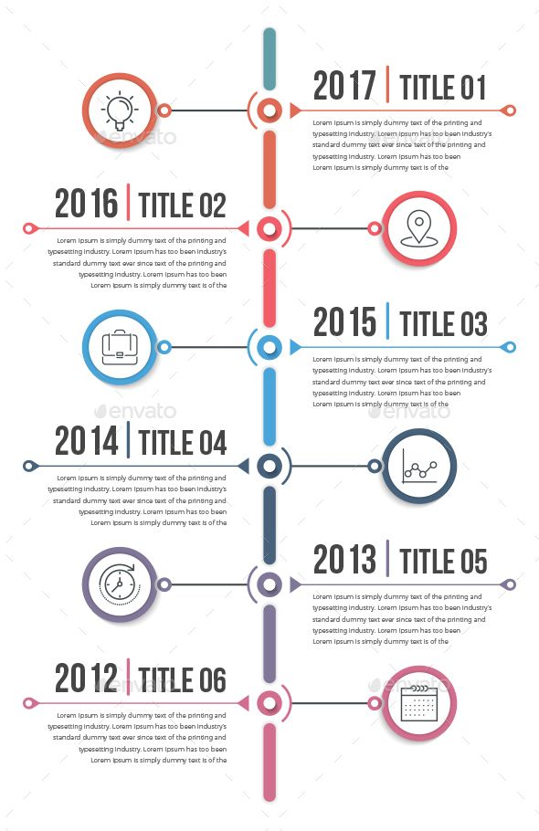Vertical Timeline Infographics Template PSD, Vector EPS, AI Illustrator