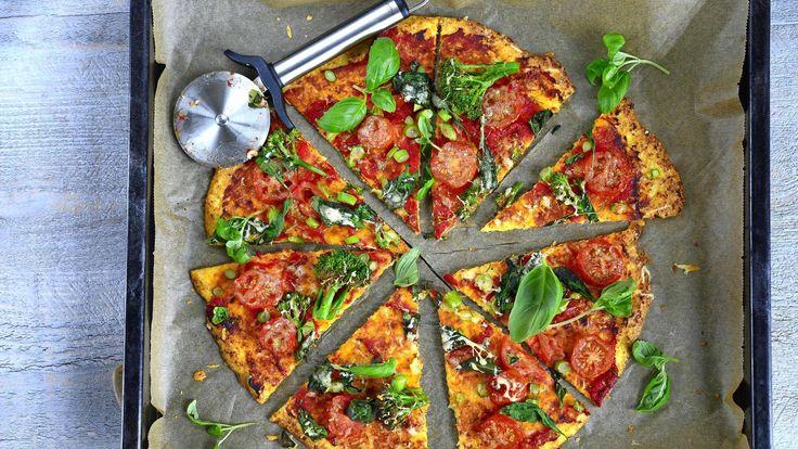 Kukkakaalipizza sopii myös keliaakikoille.