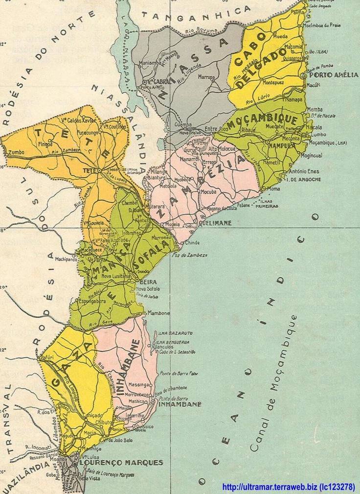 LOURENÇO MARQUES - ANOS 60 - Moçambique, conhecido oficialmente como República de Moçambique . Entre o primeiro e o quinto século d.C., povos bantos migraram de regiões do norte e oeste para essa região. Portos comerciais suaílis e, mais tarde, árabes, existiram no litoral moçambicano até a chegada dos europeus. A área foi reconhecida por Vasco da Gama em 1498 e em 1505 foi anexada pelo Império Português. ,