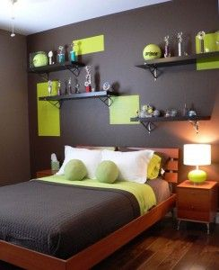 Bright Green On A Black Wall Boys Room Fun And Contemporary Decor Idea Neon Photos From Wallpops Fans Pinterest Bedroom