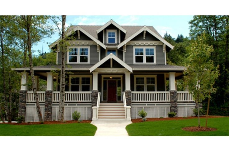 Craftsman 3 beds 2 5 baths 3621 sq ft plan 509 35 front for Houseplans com craftsman