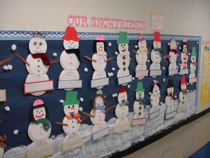 preschool bulletin board ideas for winter
