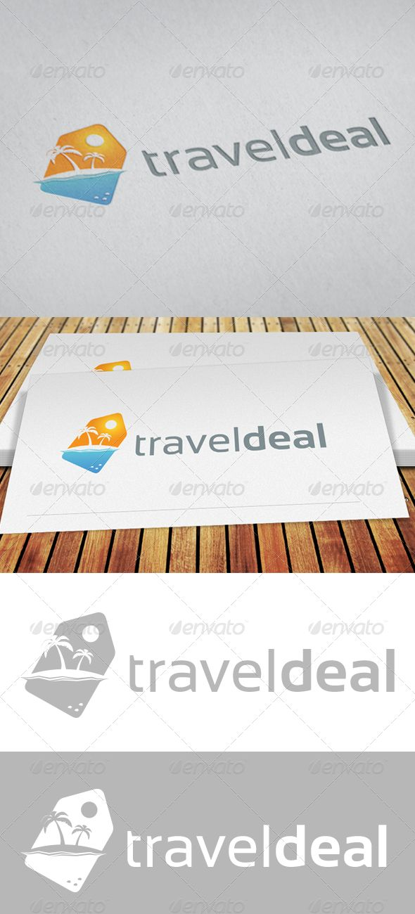 Travel Deal - EPS Logo Template • Only available here ➝ http://graphicriver.net/item/travel-deal/5436572?ref=pxcr
