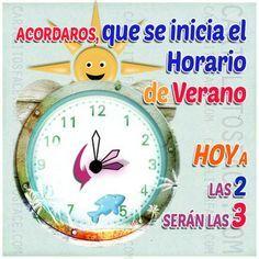 Cambio de horario a verano, esta noche adelanta tus relojes antes de ir a dormir. :-)
