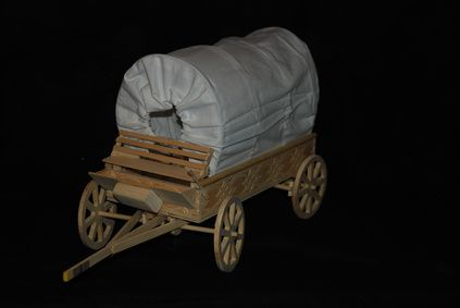 How to Make a Mini Wooden Covered Wagon  school project grandpa here we come