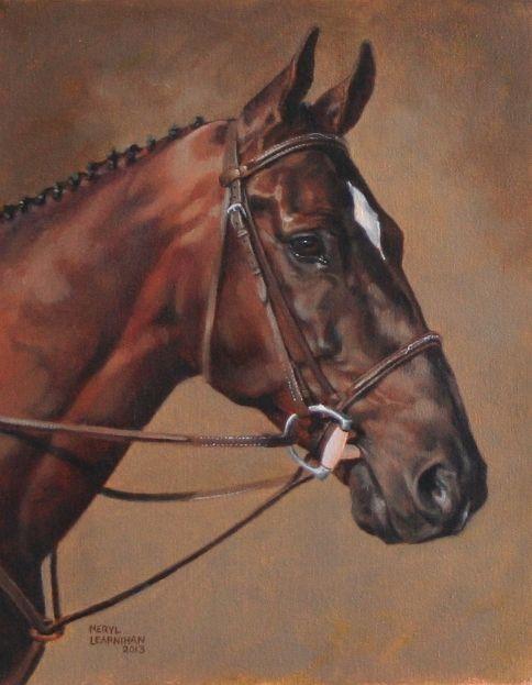 Horse painting by Meryl Henderson Learnihan