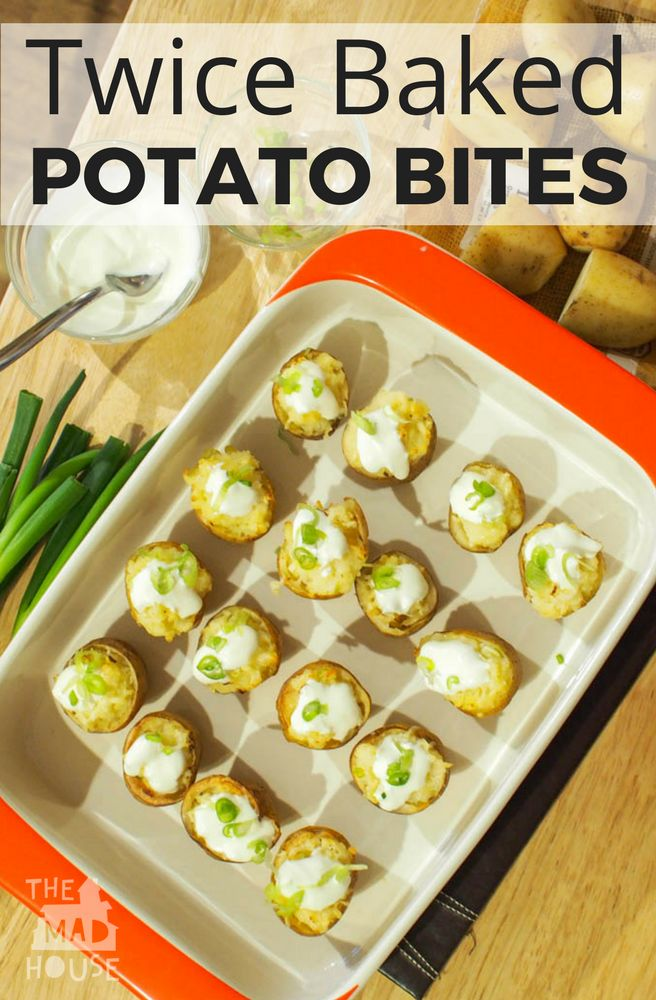 Twice Baked Potato Bites - Cooking with Kids