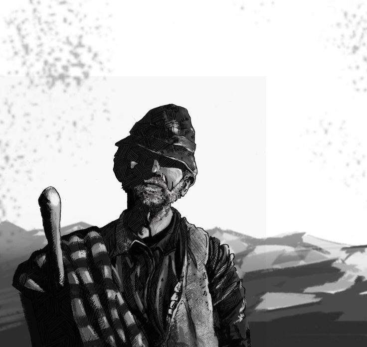 Black and white 9, Marko Pudar on ArtStation at https://www.artstation.com/artwork/black-and-white-9