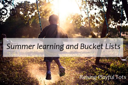 Encouraging summer learning and filling the summer with a variety of play activities are two must have this year. Listen to this Interview with Rachel from Grasshopper kits! What do you have planned? http://raisingplayfultots.com/podcast/summer-learning-and-bucket-listsSummer Bucket