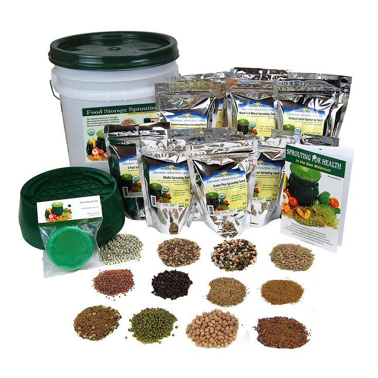 Handy pantry preparedness sprouting kit emergency food