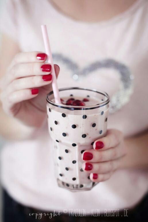 Want this polka dot glass cup way cute