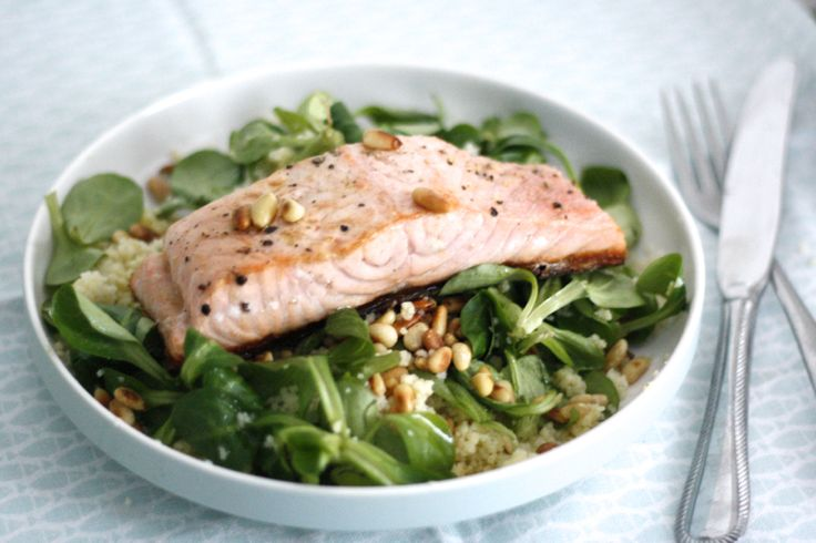 5 or less: zalm met frisse couscous