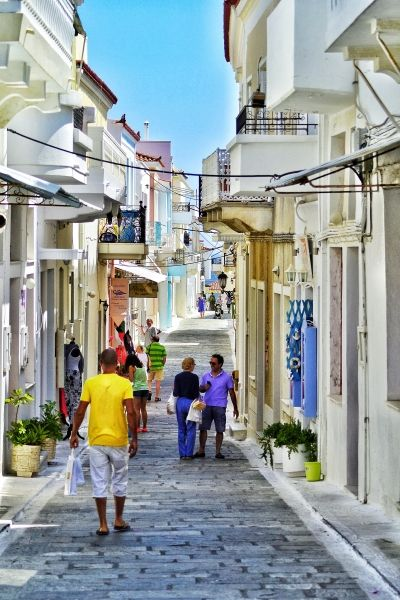 Walking the streets of Andros Town