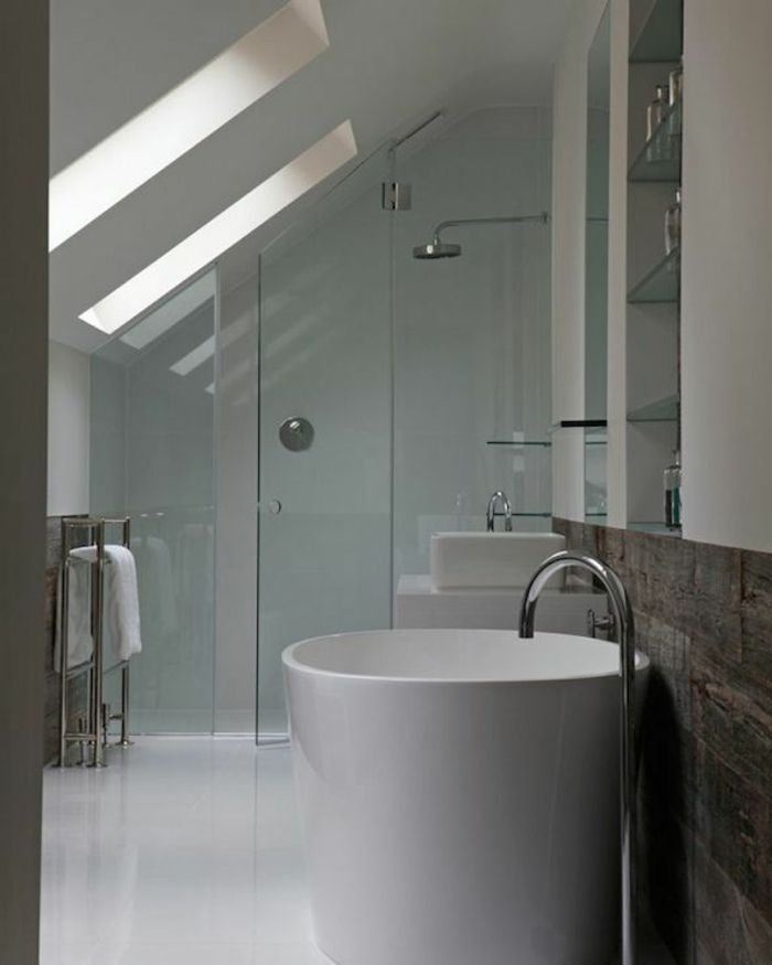 1333 best salle de bain images on pinterest for Salle de bain mansardee