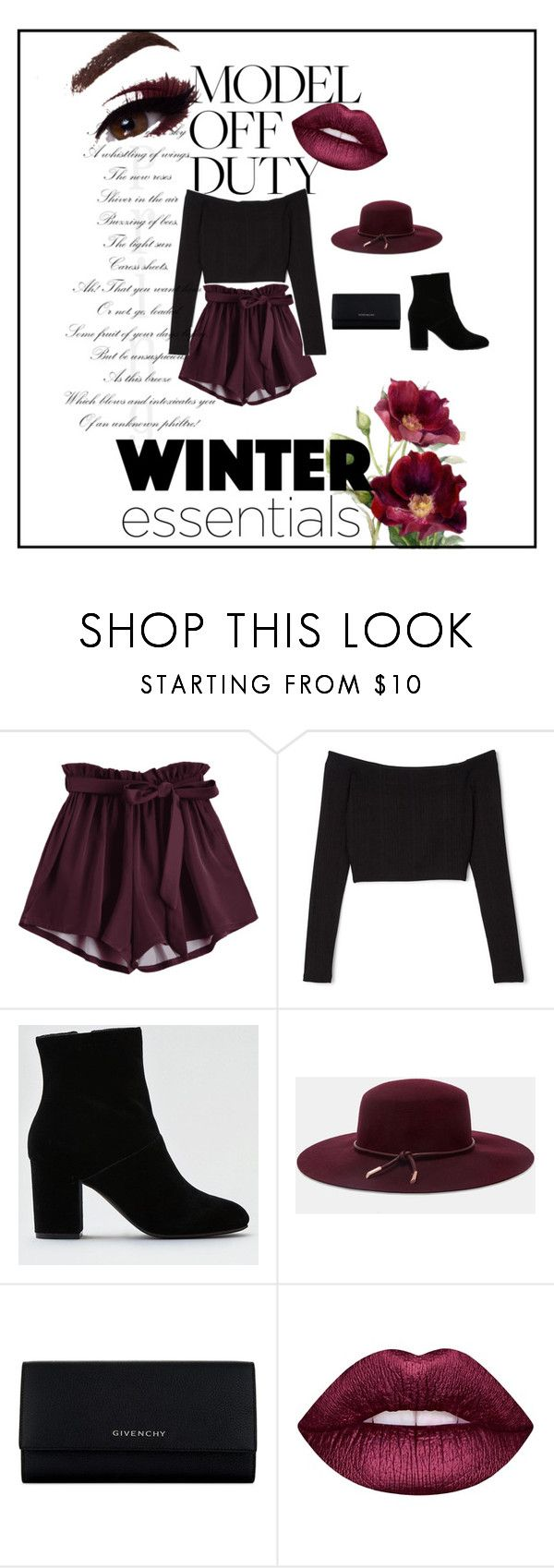 """""""model off duty"""" by yasmin-326 on Polyvore featuring moda, American Eagle Outfitters, Ted Baker, Givenchy y Lime Crime"""