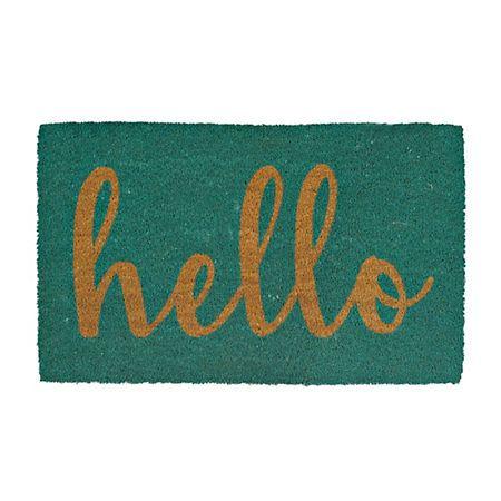 Teal Hello Doormat   Kirklands