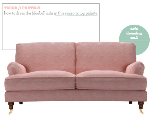 Pink sofa.  For the Home  Pinterest