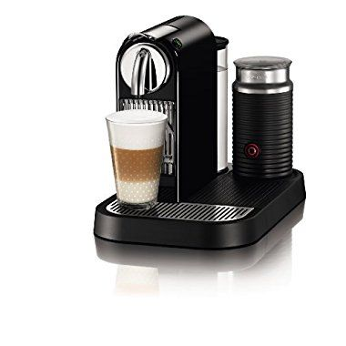 Nespresso D121-US4-BK-NE1 Fabricante de Café Espresso Ciudad con Aeroccino Milk Frother, Negro