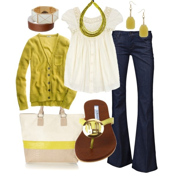 This outfit makes me want to be outside, walking in the park, stopping for a coffee and sitting outside inhaling the crisp, spring air. LOVE IT.: Fashion, Casual Outfit, Scintillating Citrus, Style, Clothes, Color, Spring Summer, Summer Outfits, Spring Outfits