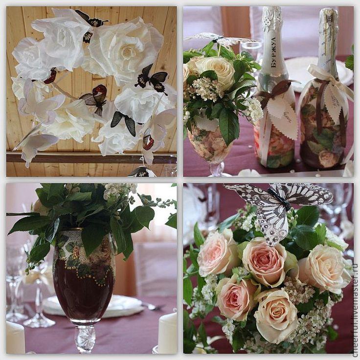 """Купить Оформление свадьбы """" Шоколад и бабочки"""" - коричневый, оформление зала, оформление свадьбы"""