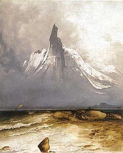 Peder Balke, Norway - Stetind in Fog. 1864