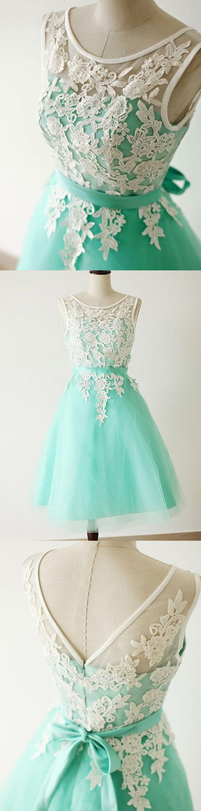 short homecoming dresses,lace homecoming dresses,mint homecoming dresses,short bridesmaid dresses @simpledress2480