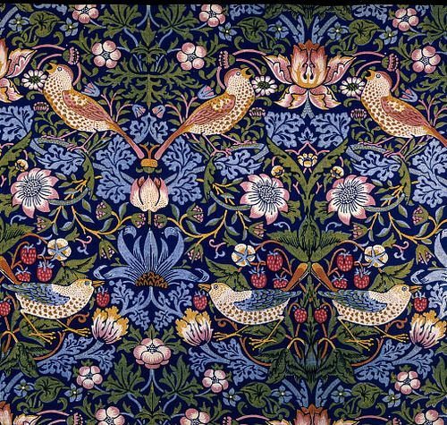 Ch 17 English Arts and Crafts: textiles, fabrics and wallpapers called strawberry thief
