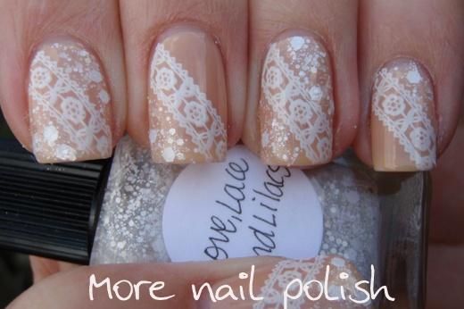 glitter and lace: Nails Art, Wedding Nails, Nails Goals, Nails Hair, Nails Ideas, Nice Nails, Nails Polish, Fancy Nails, Nails 3
