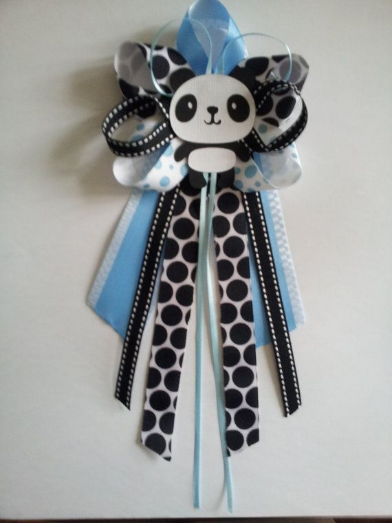 Panda baby shower pin/corsage by diapercake4less on Etsy