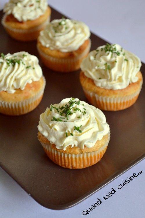 Cupcakes salés au saumon fumé, topping mascarpone et citron - Quand Nad cuisine...
