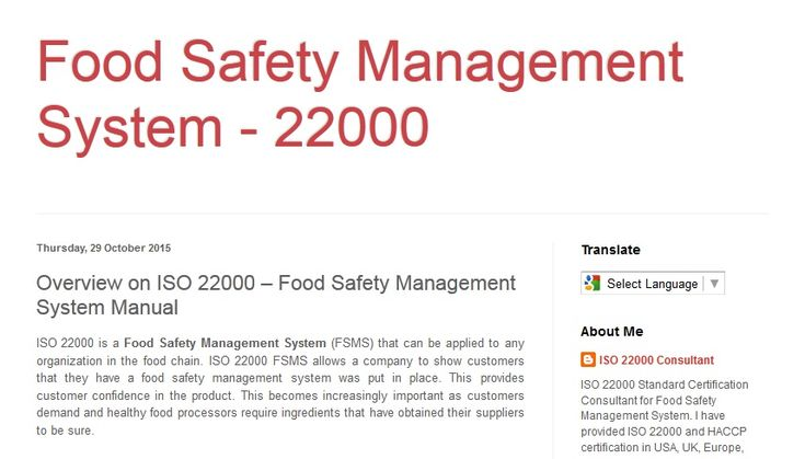 ISO 22000 is a Food Safety Management System (FSMS) that can be applied to any organization in the food chain. ISO 22000 FSMS allows a company to show customers that they have a food safety management system was put in place. This provides customer confidence in the product. This becomes increasingly important as customers demand and healthy food processors require ingredients that have obtained their suppliers to be sure.