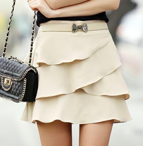 Fashion Vogue Style: Bows Belts, Layered Skirt, Ruffles Skirts, Style, Closets, Clothing, Fashion Inspiration, Cream, Bags