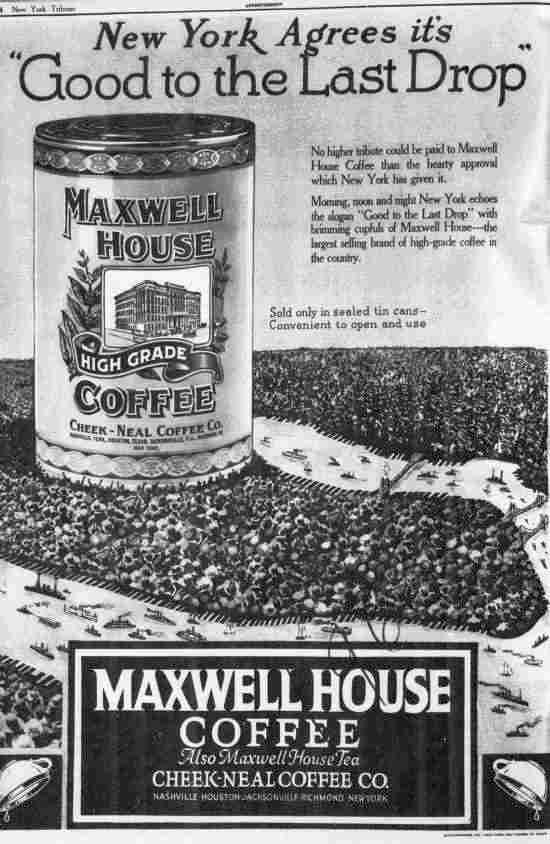Maxwell House Coffee Ad (1922)